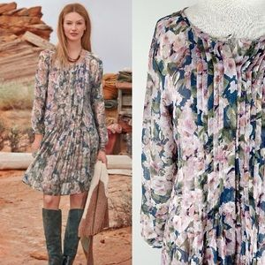 Sundance Province Rose Dress, Boho Floral Shift